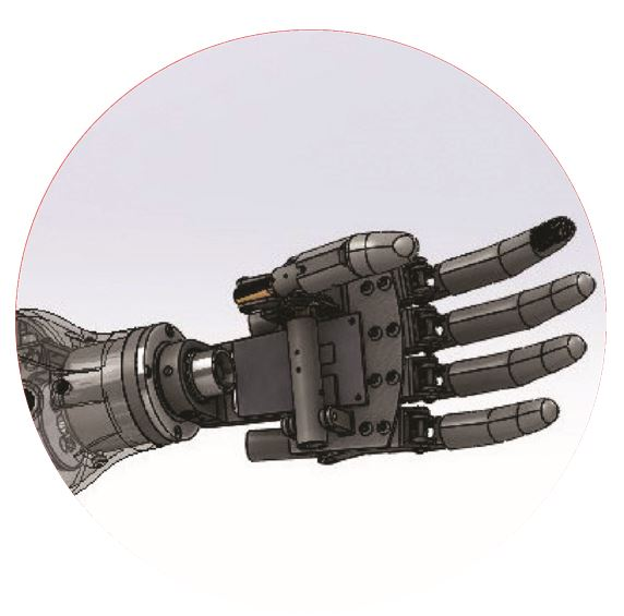 MECHANICAL PROSTHETIC ARM IMITATING THE KINEMATIC STRUCTURE OF THE HAND
